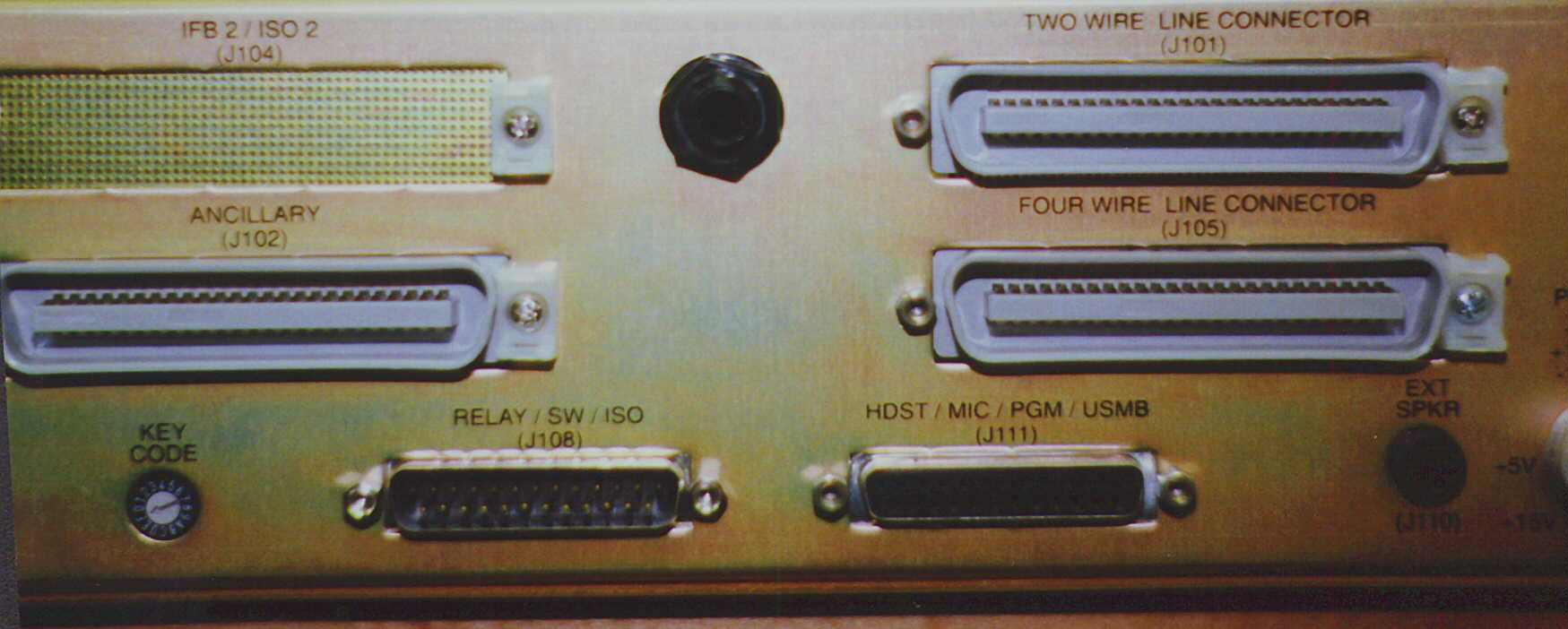 Telex Rts Pinouts Intercom Wiring Diagram J111 Is The Female Db 25 Connector On Right Side Of Lower Part Chassis Usmb Output Used To Feed An 4000 Series Ifb Panel Or It